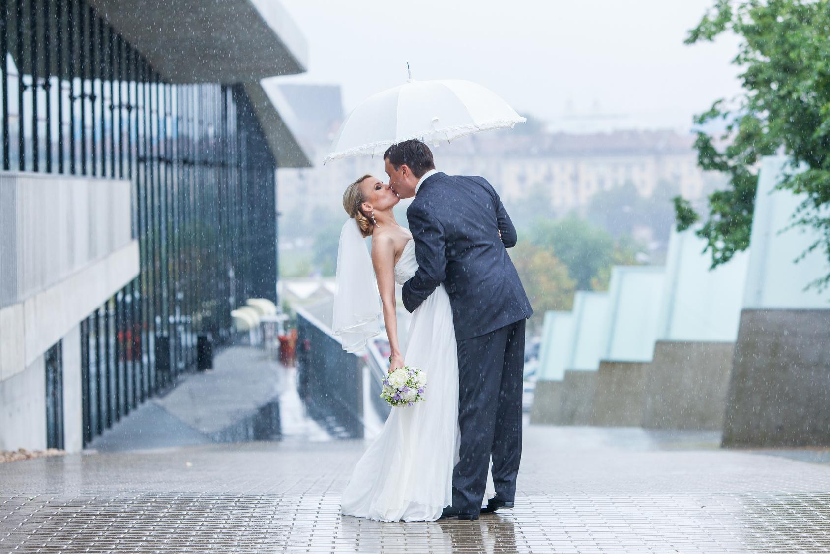 verregnete Hochzeit