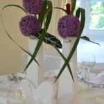 Tischdeko lila 3