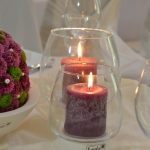 Tischdeko lila 6