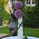 Tischdeko lila 1